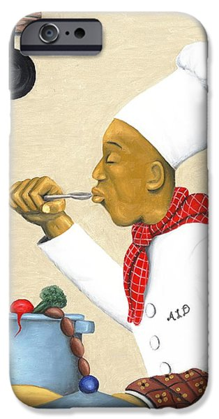 Cookbook Paintings iPhone Cases - Just Right iPhone Case by Arthur Dawson