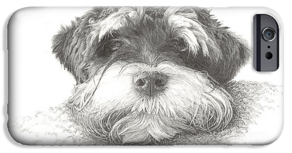Puppies iPhone Cases - Just you and me iPhone Case by Lawrence Marshall