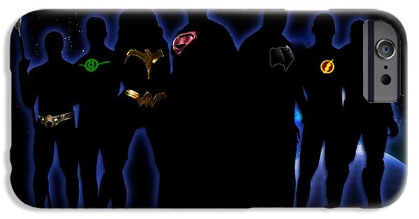 Justice League iPhone Cases - Justice League iPhone Case by PedrazArt Digital Designs