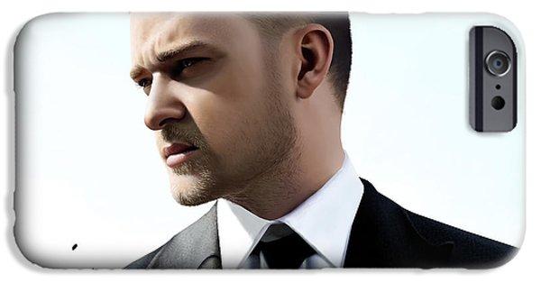 Justin Timberlake iPhone Cases - Justin Timberlake drawing iPhone Case by Krimat Ibrahim