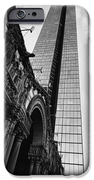 Boston iPhone Cases - Juxaposition iPhone Case by JD Moore