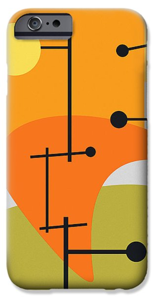 Abstract Digital iPhone Cases - Juxtaposing Thoughts iPhone Case by Richard Rizzo