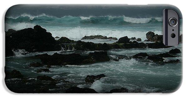 Sharon Mau iPhone Cases - Ka makani kaiili Aloha Hookipa Maui Hawaii  iPhone Case by Sharon Mau