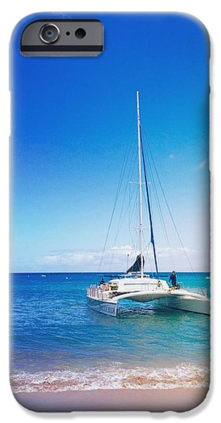 Sailboat Ocean iPhone Cases - Kaanapali Sail in Maui iPhone Case by Stacia Blase
