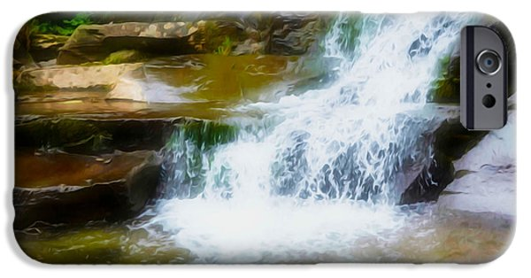 Overhang iPhone Cases - Kaaterskill Falls 15 iPhone Case by Lanjee Chee