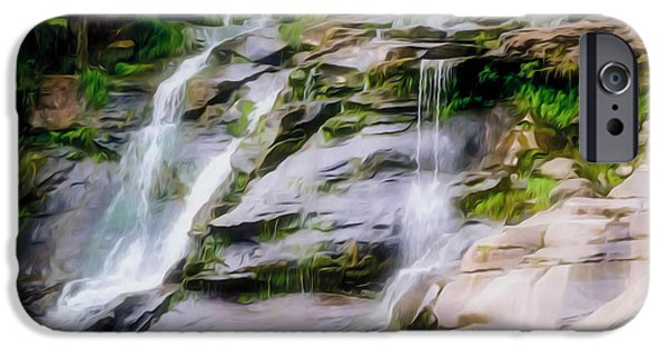 Overhang iPhone Cases - Kaaterskill Falls 18 iPhone Case by Lanjee Chee