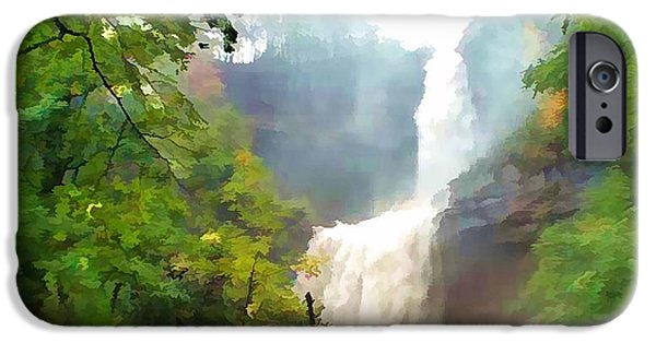 Overhang iPhone Cases - Kaaterskill Falls Flooding iPhone Case by Lanjee Chee