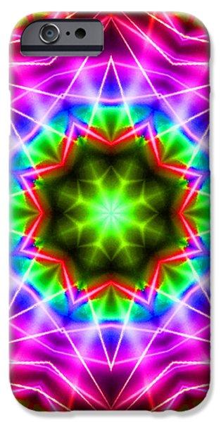 Kaleidoscope I iPhone Case by Kenneth Krolikowski