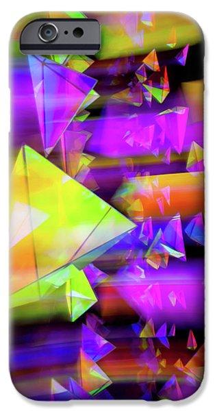 Shape iPhone Cases - Kaleidoscopic Mind iPhone Case by Az Jackson