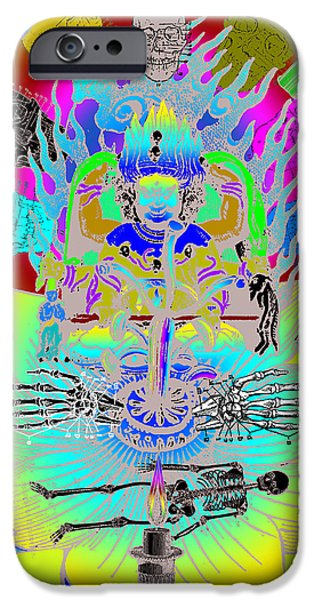 1890Õs iPhone Cases - Kali Yuga iPhone Case by Eric Edelman