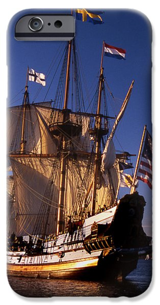 Tall Ship iPhone Cases - Kalmar Nyckel iPhone Case by Skip Willits