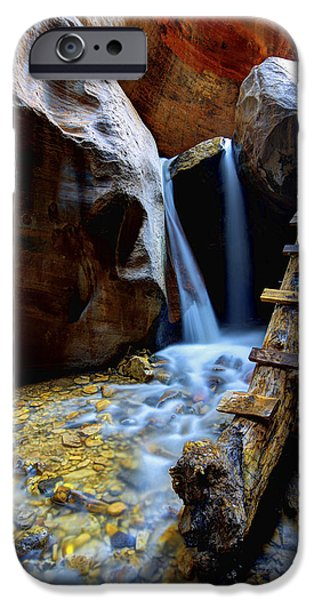 Creek iPhone Cases - Kanarra iPhone Case by Chad Dutson