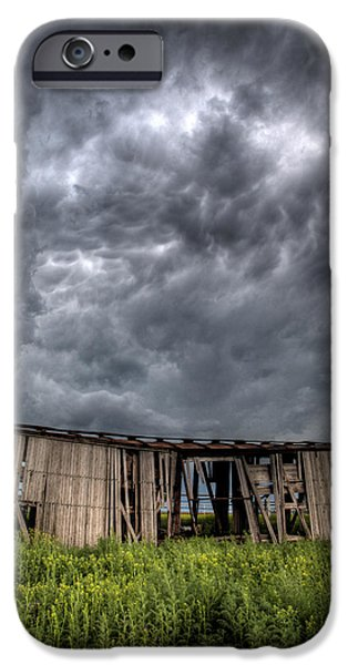 Storm iPhone Cases - Kansas Boxcar Storm iPhone Case by Thomas Zimmerman