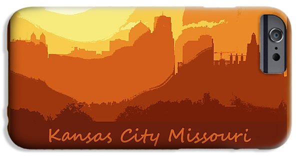 Abstract Digital Photographs iPhone Cases - Kansas City Pride 9 16 iPhone Case by Kevin Anderson