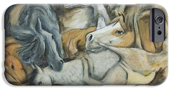 Bhymer iPhone Cases - Kardonne Inspired Horses iPhone Case by Barbara Hymer