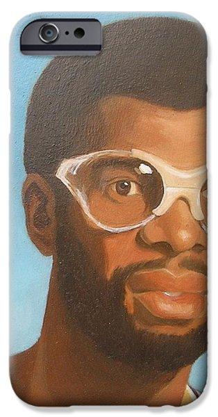 Kareem iPhone Case by Nigel Wynter