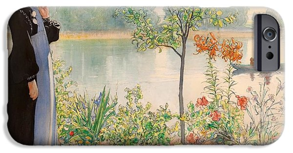 Recently Sold -  - Canoe iPhone Cases - Karin By The Shore iPhone Case by Carl Larsson