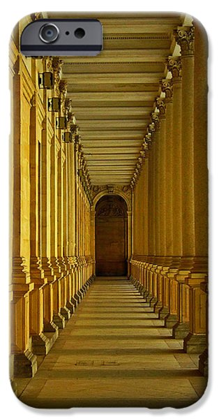 Karlovy Vary Colonnade iPhone Case by Juergen Weiss