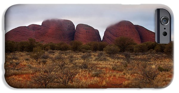 Monolith iPhone Cases - Kata Tjuta Evening Glow iPhone Case by Mike  Dawson