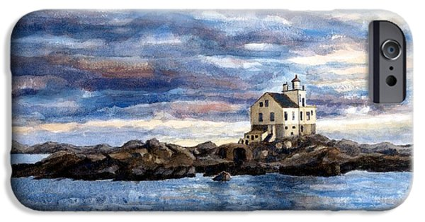 Janet King iPhone Cases - Katland lighthouse iPhone Case by Janet King
