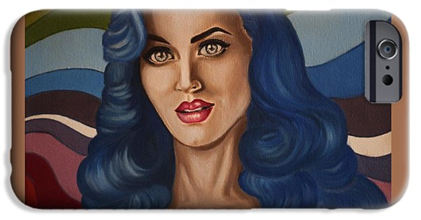 Katy Perry iPhone Cases - Katy Perry iPhone Case by Lyudmila Kotok