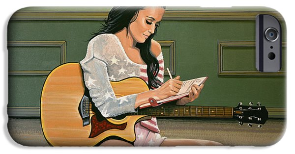 American Singer iPhone Cases - Katy Perry iPhone Case by Paul Meijering