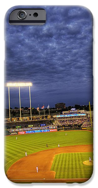 Kauffman Stadium Twilight iPhone Case by Shawn Everhart