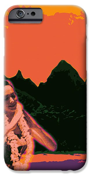 Contemporary Abstract iPhone Cases - Kauluwela Hula 9 iPhone Case by Kenneth Grzesik