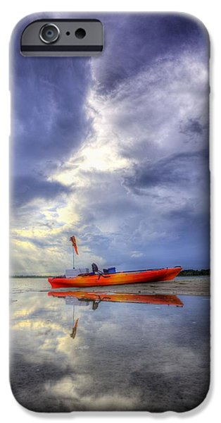 Yak iPhone Cases - Kayak Panama City Beach iPhone Case by JC Findley