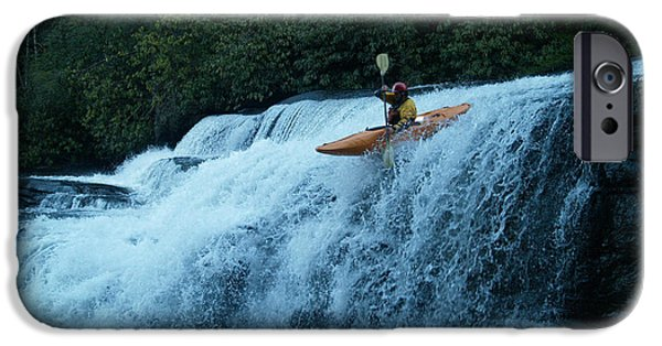 Tripple iPhone Cases - Kayak Triple Falls iPhone Case by Steven Sloan