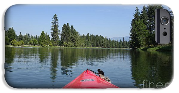 Canoe iPhone Cases - Kayaking down the Swan River iPhone Case by Nina Prommer