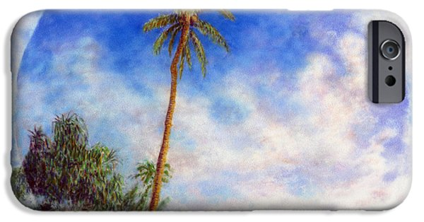 Graphic Design Pastels iPhone Cases - Kee Palm iPhone Case by Kenneth Grzesik