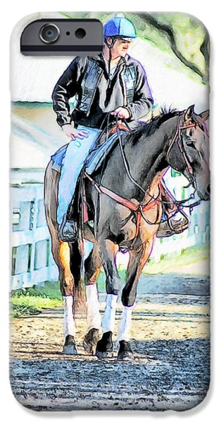 Keeneland Pony Boy iPhone Case by Tom Schmidt