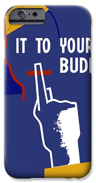 Loose iPhone Cases - Keep It To Yourself Buddy iPhone Case by War Is Hell Store