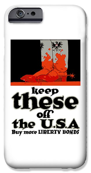 Ww1 iPhone Cases - Keep These Off The USA - WW1 iPhone Case by War Is Hell Store