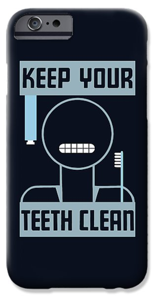 Healthcare iPhone Cases - Keep Your Teeth Clean - WPA iPhone Case by War Is Hell Store