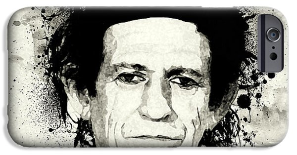 Keith Richards iPhone Cases - Keith iPhone Case by Laurence Adamson