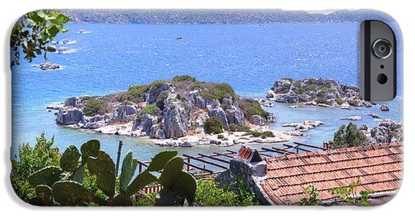 Asien iPhone Cases - Kekova archipelago - Turkey iPhone Case by Joana Kruse