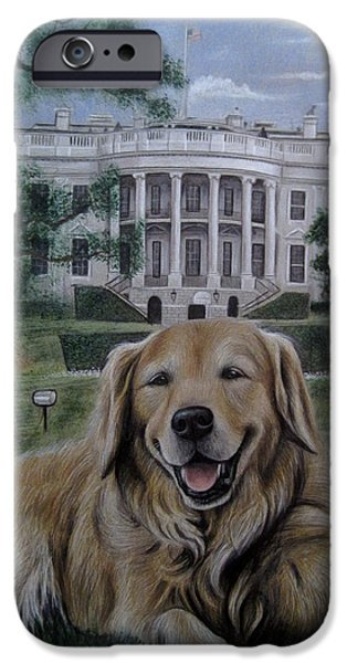 White House iPhone Cases - Kelli on the White House Lawn iPhone Case by Jonathan Anderson