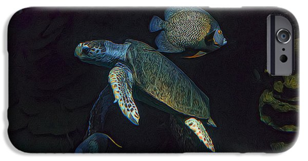 Kemp iPhone Cases - Kemps Sea Turtle  iPhone Case by Janet Fikar