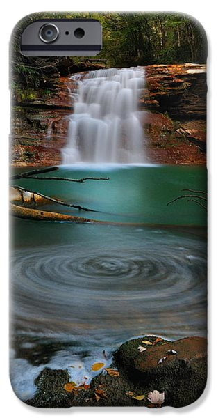West Fork iPhone Cases - Kennedy Falls iPhone Case by Jeff Burcher