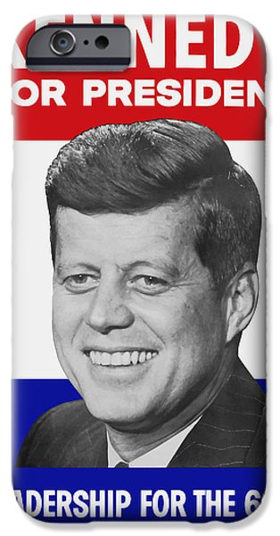 Presidential Elections iPhone Cases - Kennedy For President 1960 Campaign Poster iPhone Case by War Is Hell Store