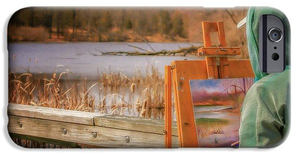 Painter Photographs iPhone Cases - Kensington Morning iPhone Case by Susan Grube