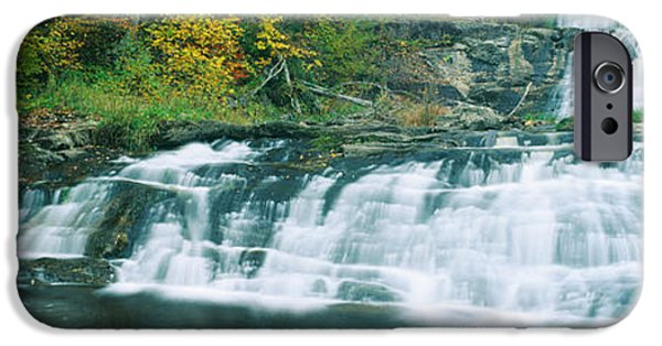 Litchfield County Landscape iPhone Cases - Kent Falls State Park, Connecticut iPhone Case by Panoramic Images