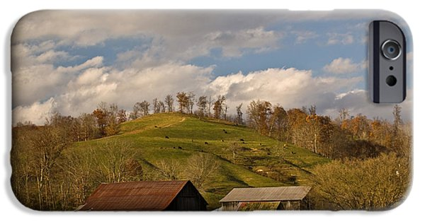 Shed iPhone Cases - Kentucky Mountain Farmland iPhone Case by Douglas Barnett