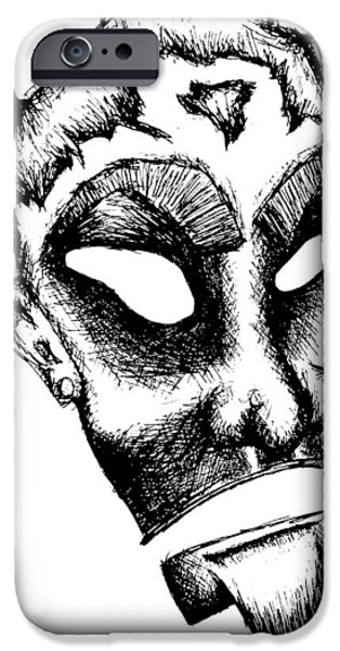 Creepy Drawings iPhone Cases - Kerberos iPhone Case by Jera Sky