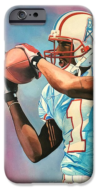 Miracle iPhone Cases - Kevin Dyson - Houston Oilers iPhone Case by Michael  Pattison