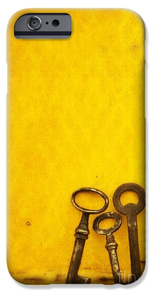 Life iPhone Cases - Key Family iPhone Case by Priska Wettstein