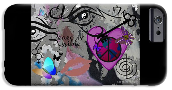 Recently Sold -  - Lips iPhone Cases - Key to Energy of Peace  iPhone Case by Bobbee Rickard