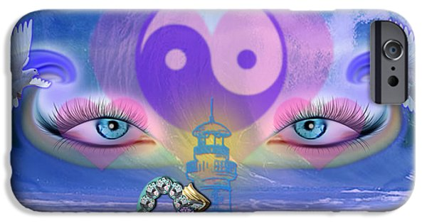 444 iPhone Cases - Hope is the Key to Balance Love and Peace iPhone Case by Barbara Tristan